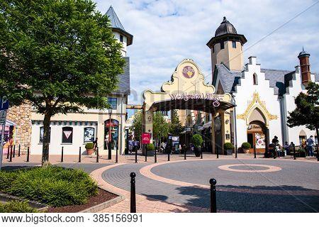 Wertheim Am Main, Germany - June 02, 2017: Wertheim Village Is Outdoor Shopping Mall With Village-in
