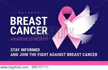 Breast Cancer Awareness Month October. Vector Conceptual Illustration For Breast Cancer Awareness Ev
