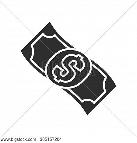 Cash Flow Black Glyph Icon. Report And Financial Statements. Bookkeeping And Accounting. Pictogram F