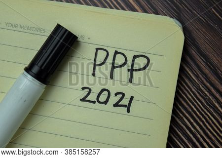 Ppp 2021 Write On A Book Isolated On Office Desk.