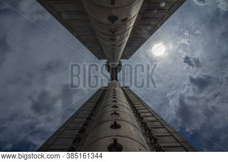 Belgrade, Serbia - July 16, 2018: Western Gate, Also Called Zapadna Kapija, Or Genex Tower, Seen Fro