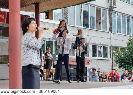 Novokuznetsk, Kemerovo Region, Russia - Sep, 1, 2018: September First-the Day Of Knowledge In Russia