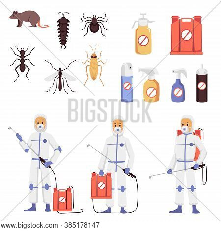 Prevention, Control And Destruction Of Insects And Rodents A Set Of Vector Icons