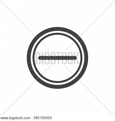 Remove Button Line Icon. Linear Style Sign For Mobile Concept And Web Design. Ui Minus Outline Vecto