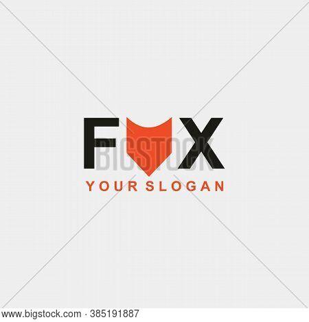 Fox Logo Template Design Vector Icon Illustration