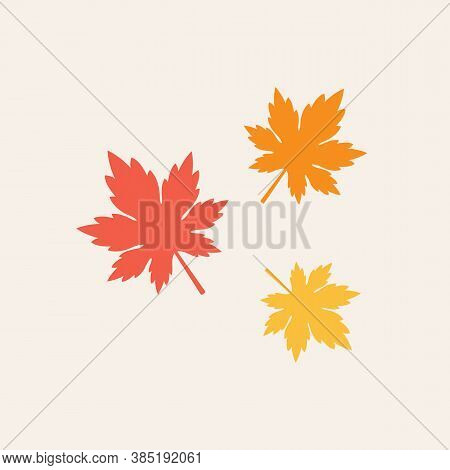 Maple Leaves Vector Illustration. Autumn Leaf Leaves. Fall Leaves Maple