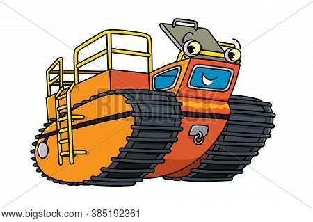 Funny Rover Car Or Amphibious Vehicle With Eyes