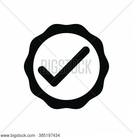 Black Solid Icon For Okay Acceptance Approval Tick Checkmark Checkbox Survey Accept Inquiry
