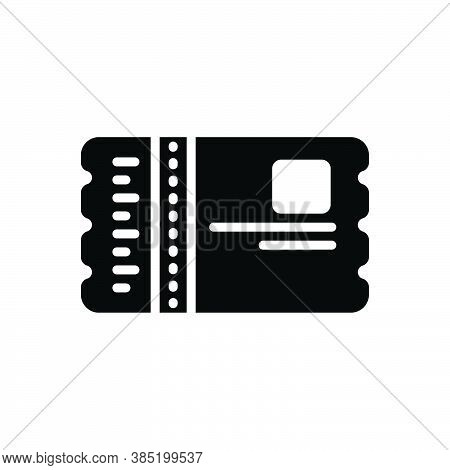 Black Solid Icon For Pass Security Badge Event-pass Identity Ticket Sticker Voucher Talon Coupon Ent