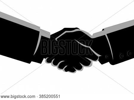 Business Concept Vector Illustration Of Shaking Hands