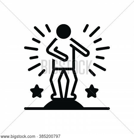 Black Solid Icon For Act Actors Artists Acrobat Stunt Entertainmet Performing Dancer Cheerful Music