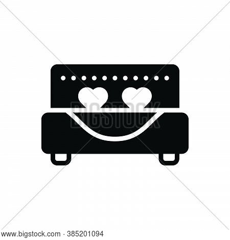 Black Solid Icon For Married Honeymoon Romantic Bed Marital Gender Relationship Wed Get-married Marr
