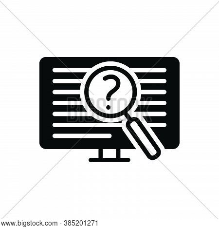 Black Solid Icon For Often Oftentimes Generally Regularly Repeatedly Frequently Investigate Digital