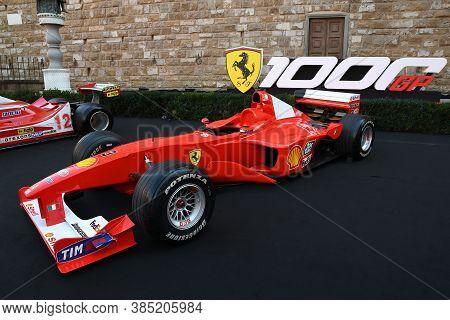 Florence, September 2020: Ferrari F399 F1 On Display During The Ferrari 1000 Gp Show In Piazza Della