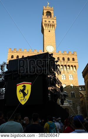 Florence, September 2020: Ferrari 1000 Gp Party In Piazza Della Signoria In Florence On The Occasion