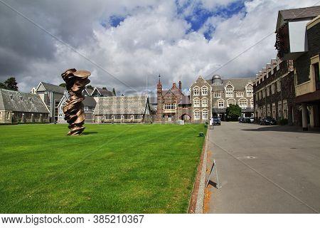 Christchurch / New Zealand - 27 Dec 2018: College In Christchurch, New Zealand