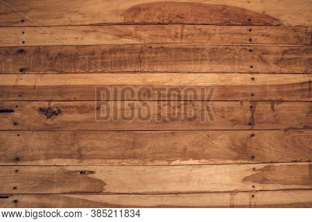 Old Grunge Wood Plank Texture Background. Vintage Wooden Board Wall Have Antique Cracking Style Back