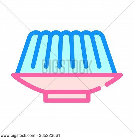 Agar-agar Meal Color Icon Vector Symbol Illustration