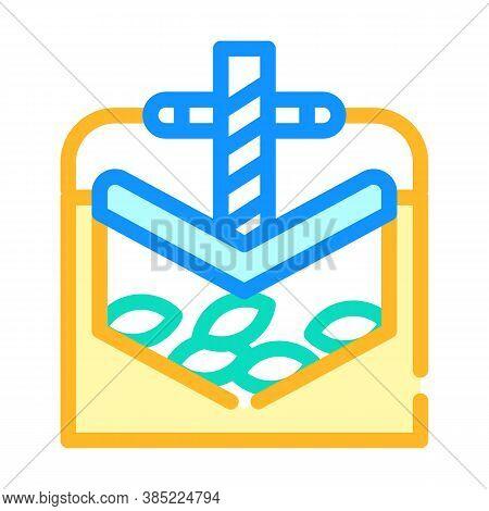 Press Equipment Color Icon Vector Symbol Illustration