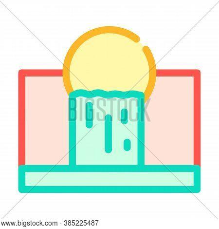 Waste Emissions Color Icon Vector Symbol Illustration