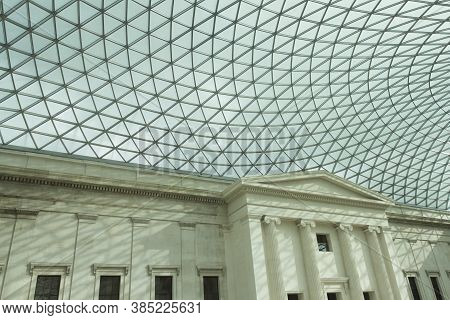 London, England; May 24, 2014. British Museum's Roof. The Museum Has A Permanent Collection Of 8 Mil