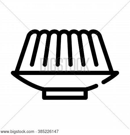 Agar-agar Meal Line Icon Vector Symbol Illustration