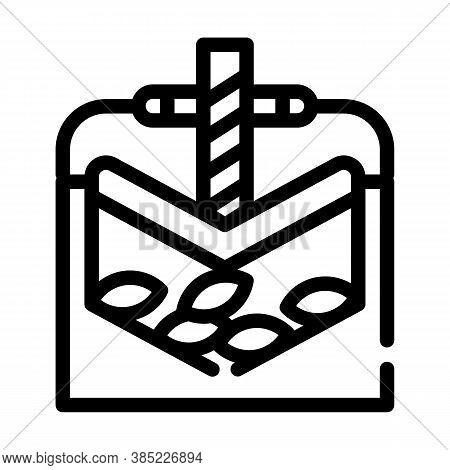 Press Equipment Line Icon Vector Symbol Illustration