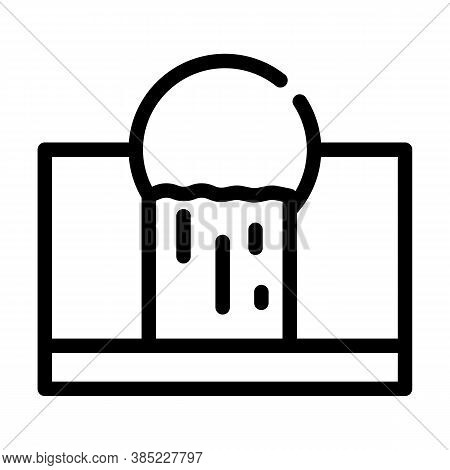 Waste Emissions Line Icon Vector Symbol Illustration