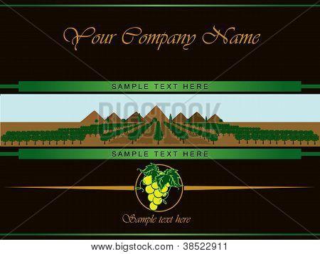 Label For White Vine