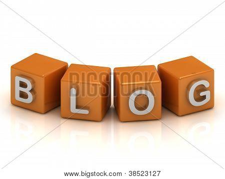 Blog Cubes 3D Render