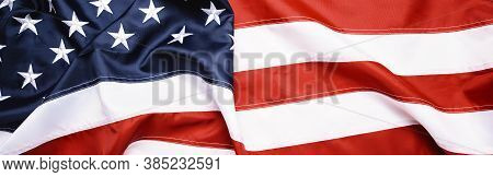 American Flag Wave For Memorial Day Or 4th Of July, Banner Size