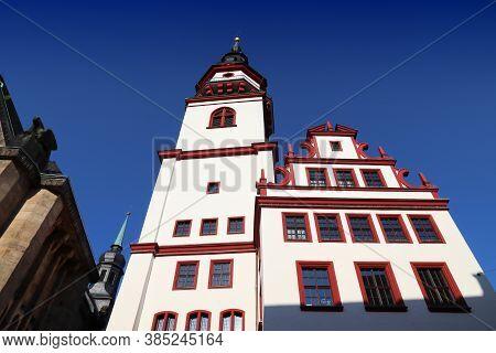 Chemnitz City, Germany (state Of Saxony). Neumarkt Square Landmark - Old Town Hall (altes Rathaus).