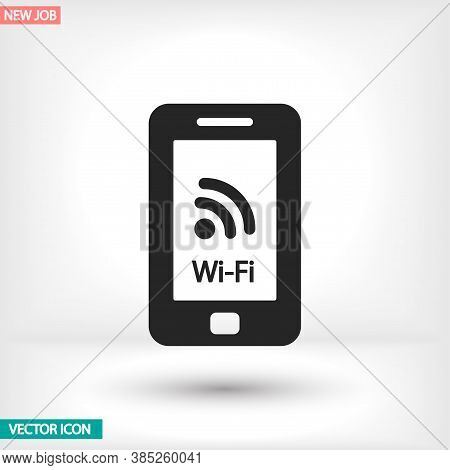 Telephone And Wi Fi Vector Icon , Lorem Ipsum Flat Design