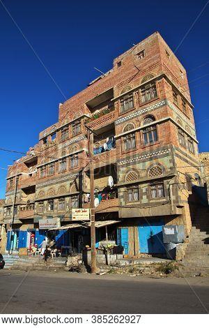 Al-mahwit / Yemen - 03 Jan 2013: Al-mahwit Village In Mountains, Yemen