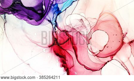 Handmade Picture. Aquarel Drawing. Liquid Image. Acrylic Handmade Picture. Wedding Shape. Alcohol In