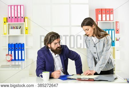 Couple In Office. Business Couple Working. Modern Business Ideas. Consulting. Startup Team. Business