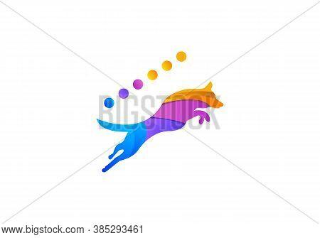 Modern Pet Logo. Logo Design Stock Illustrations. Home Pet Logo Design With Dog Concept