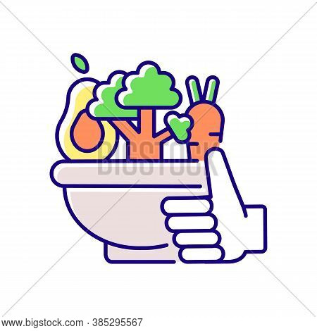 Healthy Food Rgb Color Icon. Organic Vegetables. Agricultural Production. Urban Gardening Products.