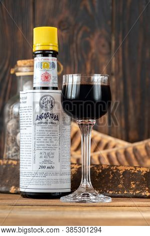 Glass Of Angostura Aromatic Bitters