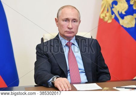 Moscow,russia,october 2020,russia President Vladimir Putin In Meeting
