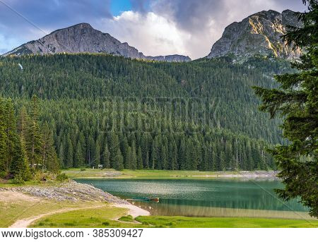 Picturesque View Of The Black Lake. Durmitor, Montenegro, Europe
