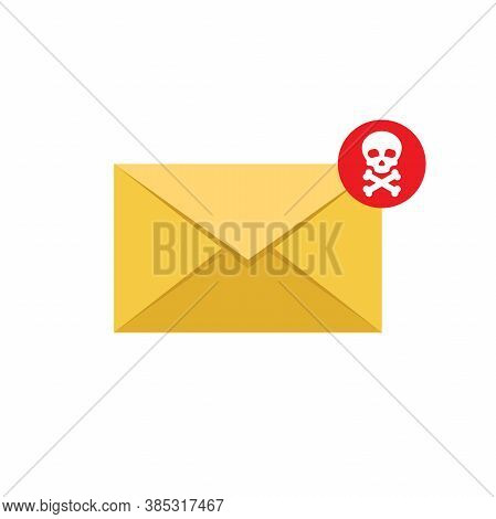 Email Spam Vector Flat Design Style Vector