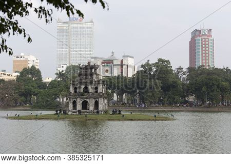 View Of Thap Rua In Hanoi
