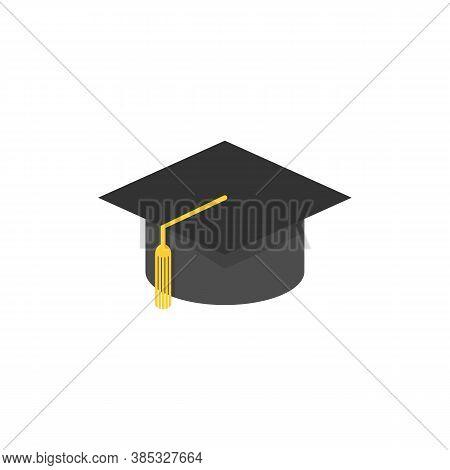 Graduation Hat Vector Icon. Graduation In College And University. Vector Eps10
