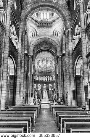 Monaco - August 13: Interiors Of The Cathedral Of Our Lady Immaculate, Aka Monaco Cathedral, Iconic