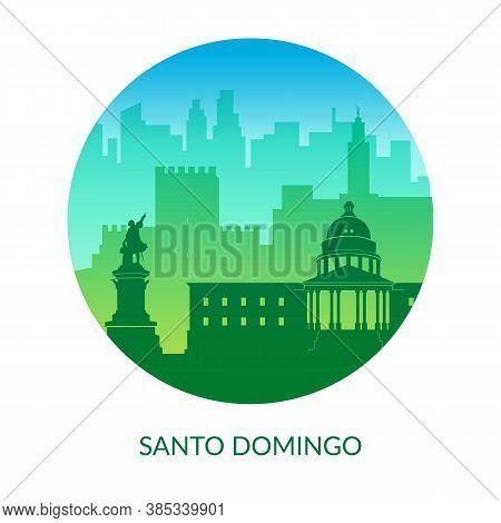 Santo Domingo, Dominican Republic Famous City Scape View Background.