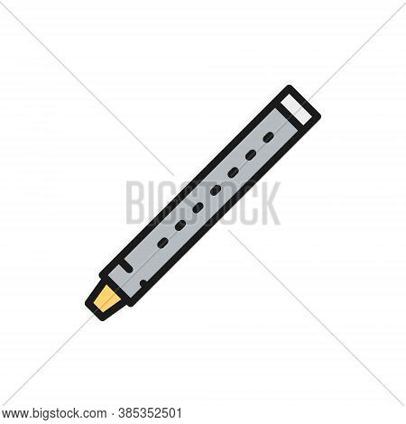 Flute, Sopilka, Clarinet, Bassoon Color Line Icon.
