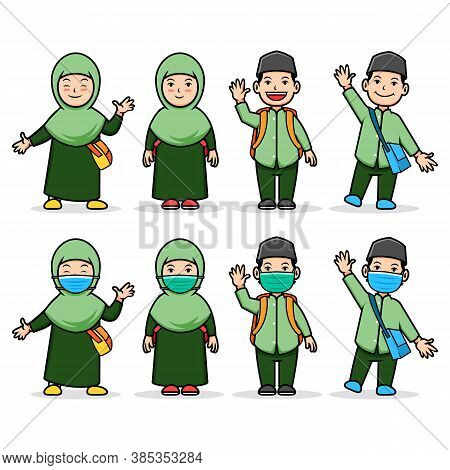 Moslem Student Back To The School During Pandemic.