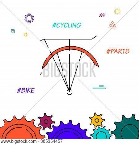 Bike Rack Filled Line Vector Icon, Simple Illustration, Related Bottom Border.