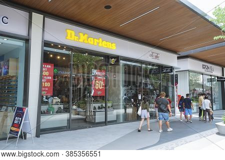 Samut Prakan, Thailand - July 28, 2020: Dr. Martens In Siam Premium Outlets Bangkok. Dr. Martens Is